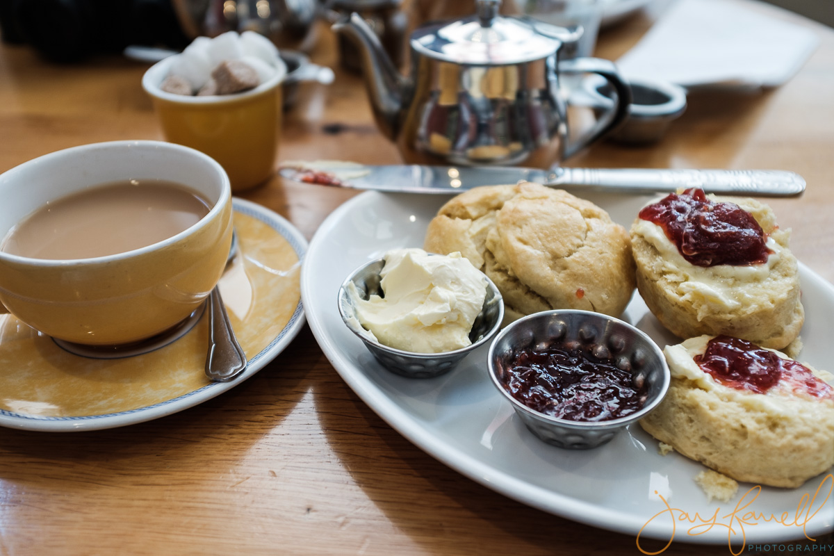 British tea and scones