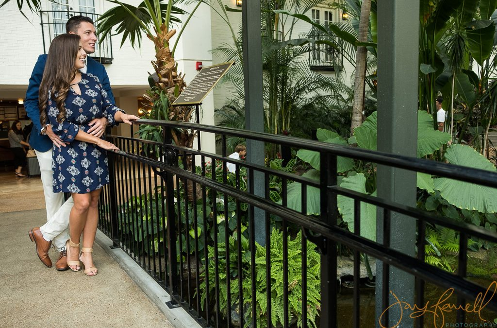 Anniversary photoshoot at the Gaylord Opryland Hotel