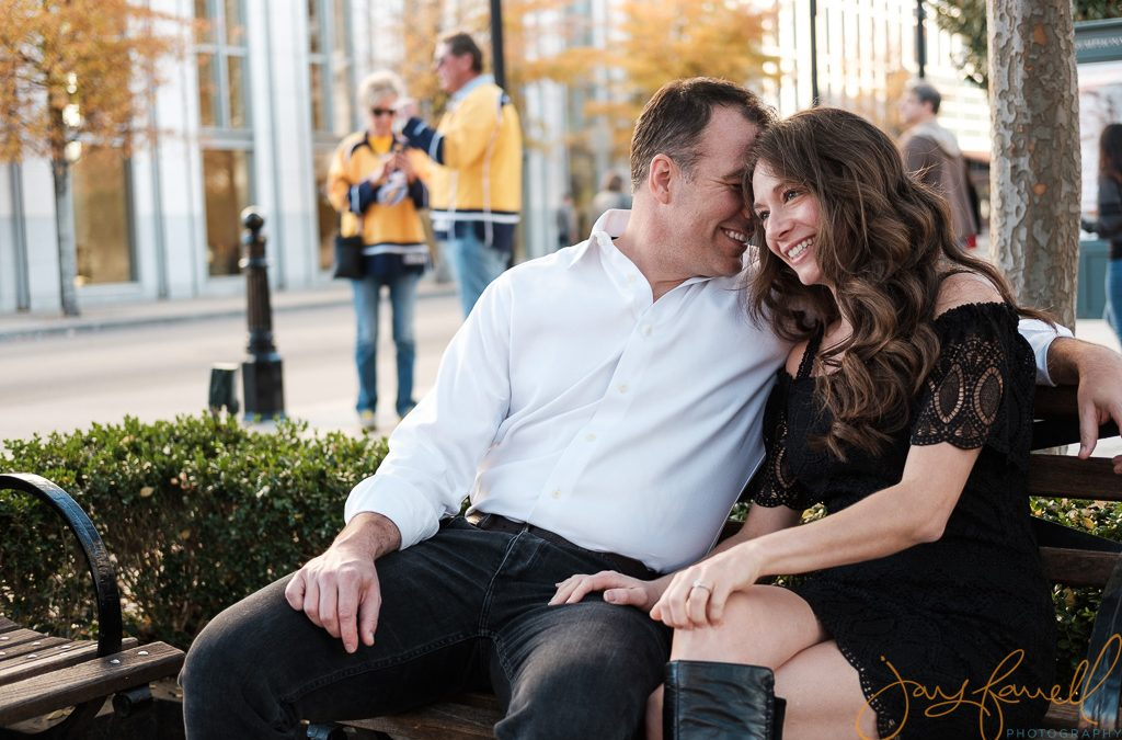 Downtown Nashville engagement photo session | Chad and Alice