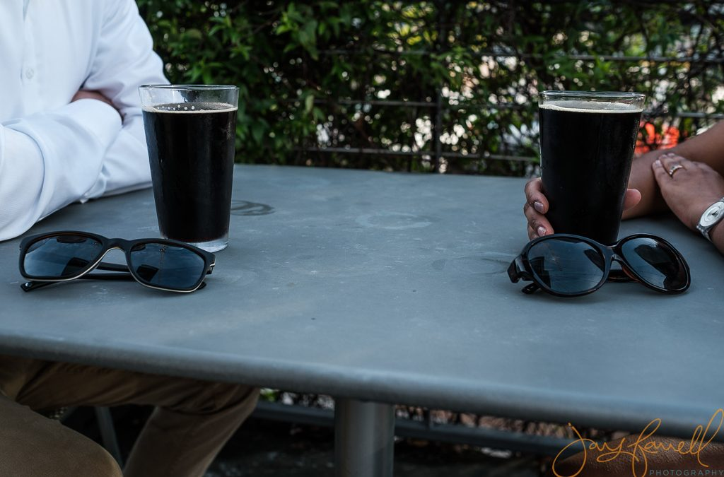 Beer and engagement photos
